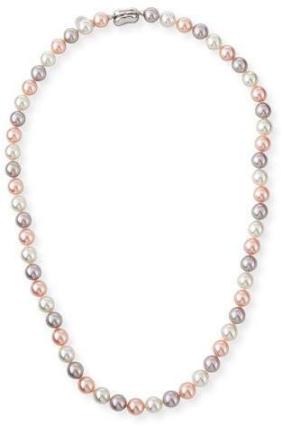 """Majorica 8mm White & Pink Simulated Pearl Necklace, 18"""""""