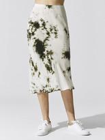Stateside Cupro Bias Skirt Tie Dye