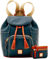 Dooney & Bourke Pebble Medium Backpack & Small Coin Case