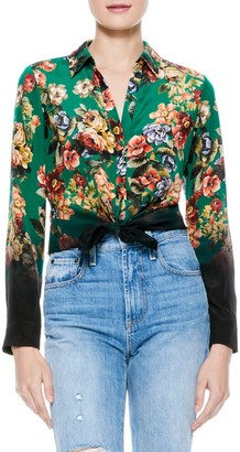 Alice + Olivia Eloise Button-Down Blouse