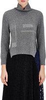 Christopher Kane Women's Wool-Blend Crystal-Embellished Sweater-GREY