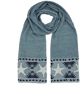 Maison Scotch Embroidered Scarf