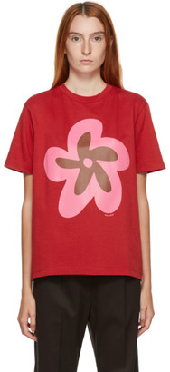 Molly Goddard Red Flower T-Shirt