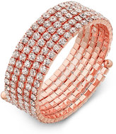 INC International Concepts Rose Gold-Tone Multi-Crystal Coil Bracelet, Only at Macy's