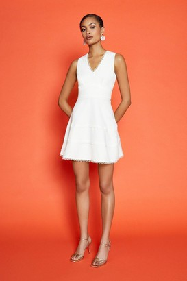 Coast Trim Insert Short Skater Dress
