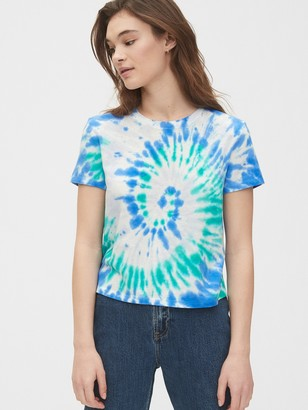 Gap Authentic Cropped Tie-Dye T-Shirt