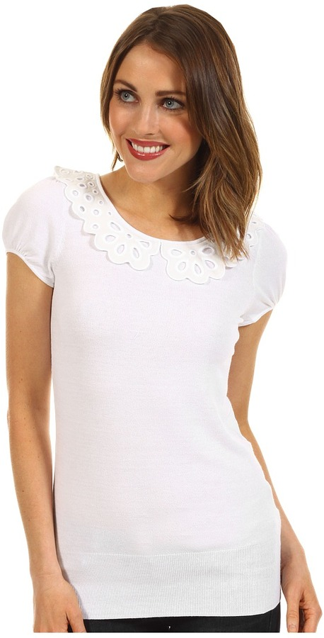 Lilly Pulitzer Nia Sweater (Resort White) - Apparel