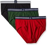 Nautica Men's 3-Pack Fly-Front Brief