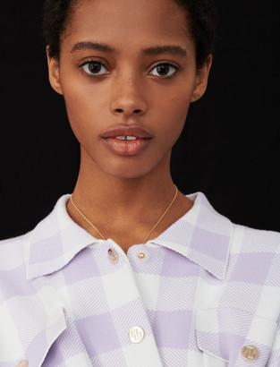 Maje Overshirt-style checked cardigan