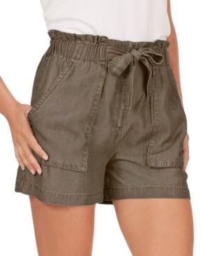 Adyson Parker Tie-Waist Paperbag Shorts
