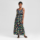 Merona Women's Floral Challis Maxi Dress Navy