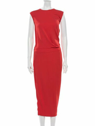 Narciso Rodriguez 2016 Midi Length Dress Orange