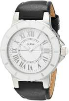 A Line a_line Women's Marina Dial Black Leather Watch AL-20007