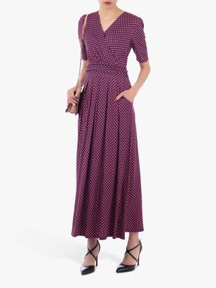 Jolie Moi Geometric Print Cross Over Maxi Dress