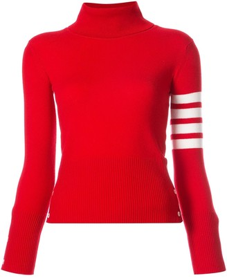 Thom Browne 4-Bar Stripe Turtle-Neck Jumper