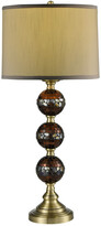 Dale Tiffany Springdale By Springdale 32In Dunford Mosaic 3-Ball Hand Blown Art Glass Table Lamp