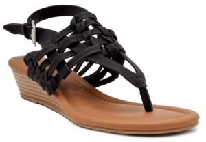 Sugar Women's Simone Woven Wedge Thong Sandals Women's Shoes