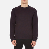 Rag & Bone Men's Wyatt Crew Neck Sweatshirt Burgundy