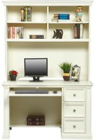 Beachcrest Home Marhill Solid Wood Computer Desk Color: White