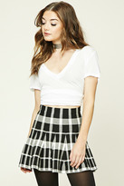 Forever 21 FOREVER 21+ Plaid Flared Mini Skirt