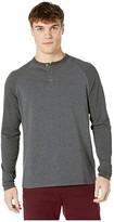Ben Sherman Long Sleeve Thermal Raglan Sleeve Henley (Heather Grey) Men's Clothing