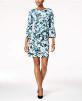Charter Club Petite Printed Bell-Sleeve Dress, Created for Macy's
