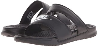Nike Benassi Duo Ultra Slide (Black/White) Women's Slide Shoes