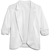 Aqua Girls' Sateen Blazer, Big Kid - 100% Exclusive