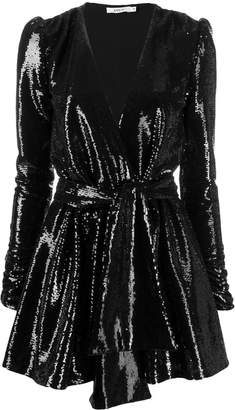 Amen sequin embroidered belted dress
