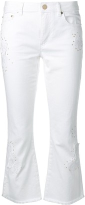 MICHAEL Michael Kors studded kick flare jeans