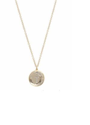 THE ALKEMISTRY Noush 14ct Yellow Gold Cross On Clear Quartz Necklace