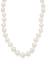 Large Graduated Pearl Strand Necklace