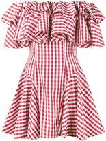 House of Holland gingham off shoulder dress - women - Cotton - 14