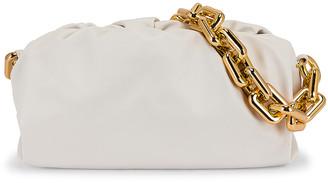 Bottega Veneta The Chain Pouch Bag in Chalk & Gold | FWRD