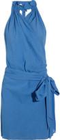 Vanessa Bruno Wrap-effect cotton-blend dress