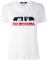Karl Lagerfeld 'Fly With Karl' T-shirt - women - Cotton - L