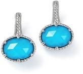 Judith Ripka Sterling Silver Eclipse Turquoise Doublet Earrings