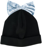 Federica Moretti bow embroidered beanie hat - women - Polyester/Spandex/Elastane - One Size