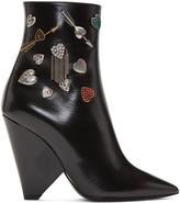 Saint Laurent Black Niki Charm Boots