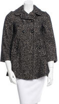 Dolce & Gabbana Wool & Mohair-Blend Tweed Coat