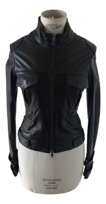 Gianmarco Lorenzi Black Leather Leather jackets