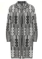 Jette Joop Plus Size Patterned turn-down collar jacket