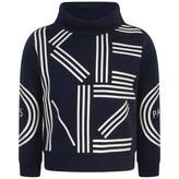 Kenzo KidsGirls Navy Logo Print Sweater