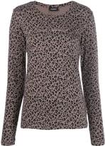Emporio Armani leopard print sweatshirt