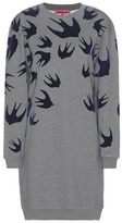 McQ by Alexander McQueen Printed Cotton-blend Sweater Dress