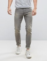 United Colors Of Benetton Skinny Jeans In Light Grey Wash