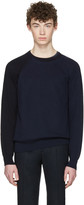 Maison Margiela Navy Sleeve Detail Sweater