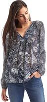 Gap Split neck print blouse