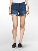 Calvin Klein Blue Denim Cutoff Shorts