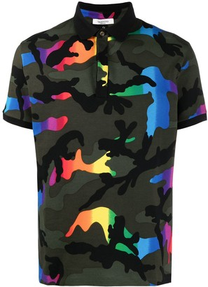 Valentino Camouflage Print Polo Shirt